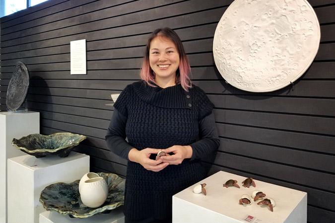 Night Sea ceramic sculpture exhibit by artist Emily Miller at Georgie's gallery, Portland Oregon
