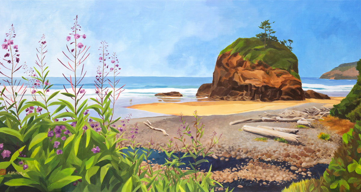 Oregon coast painting by artist Emily Miller