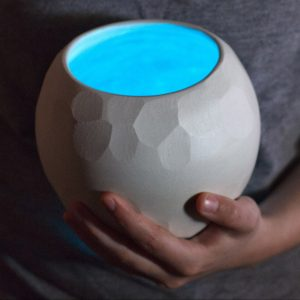 Wanderers - glow porcelain orbs by artist Emily Miller