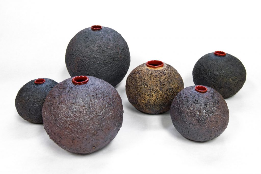 Lava Pots - ceramic artwork by artist Emily Miller
