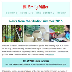 Summer 2016 email newsletter