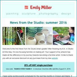 Summer 2016 email newsletter