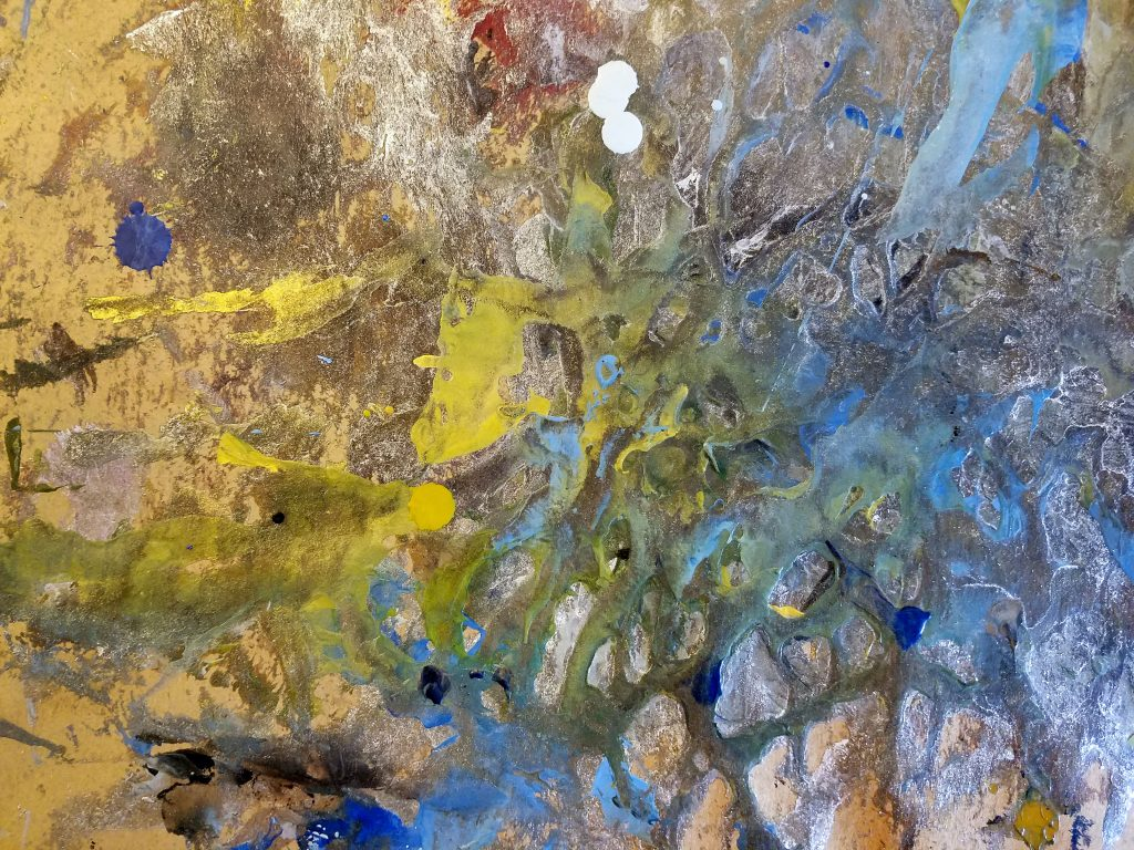 Encaustic work surface, photo by artist Emily Miller