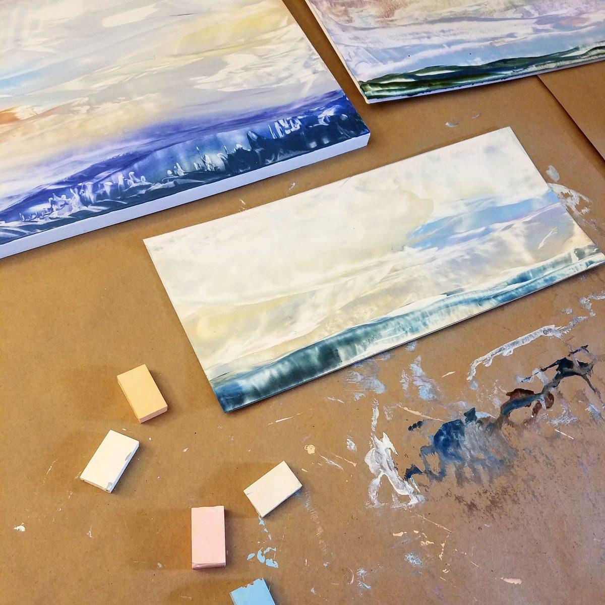 Encaustic Artist Residency: Day 1, Gathering Inspiration