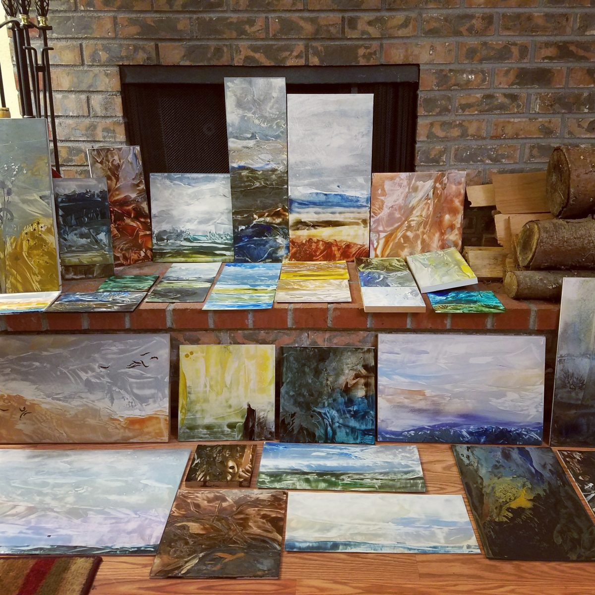 Encaustic Artist Residency: Day 7, Giveaway! + Thinking in Color