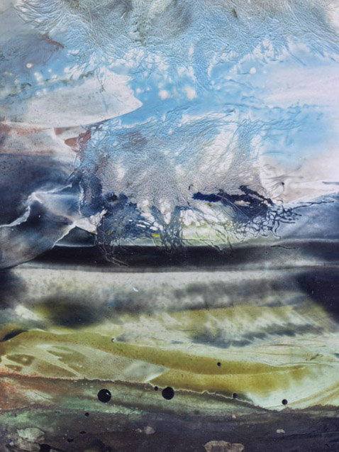Encaustic wax painting by artist Emily Miller