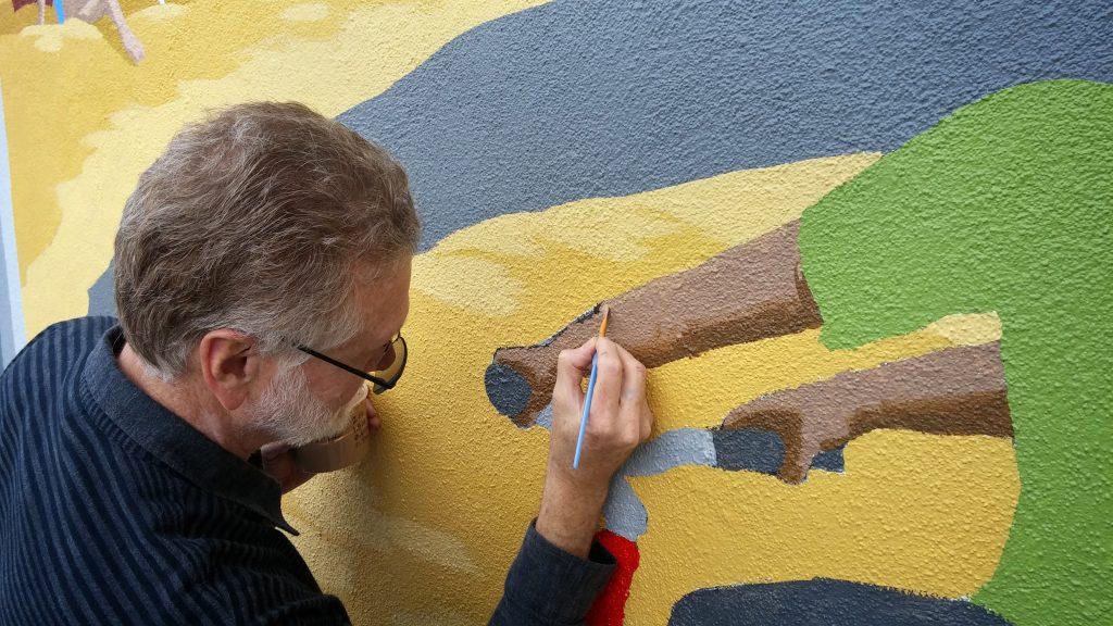 Shephard Girion - mural painting