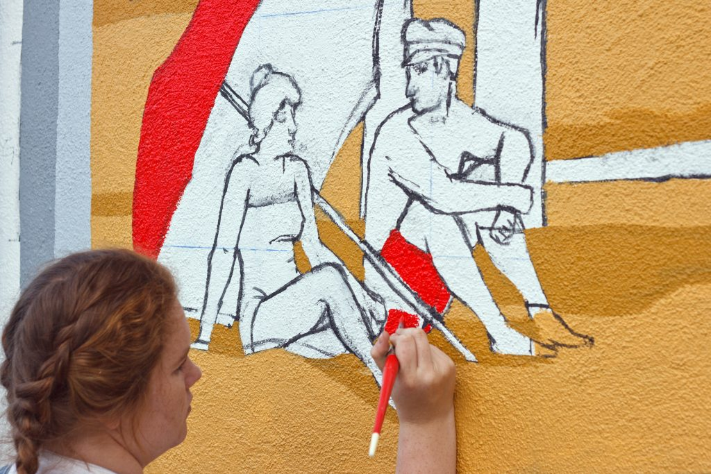 Teva Needleman - mural painting