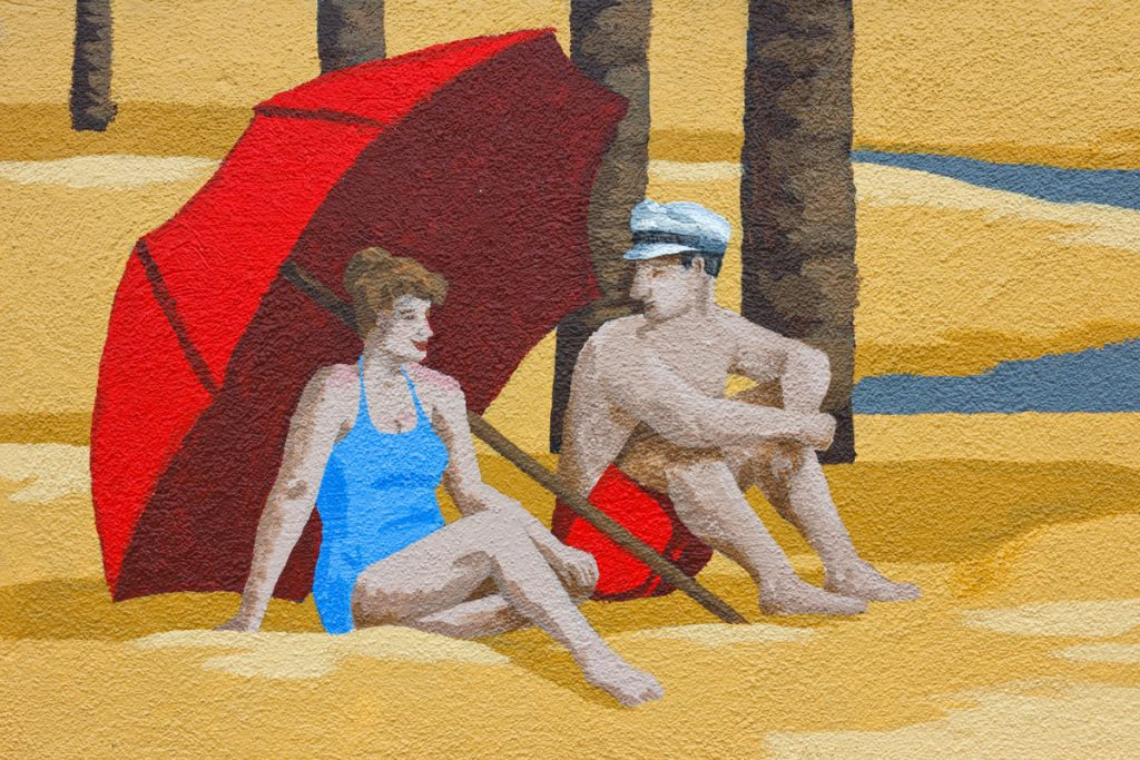 Lincoln Pier mural detail - Frank and Cathie Gaudiano