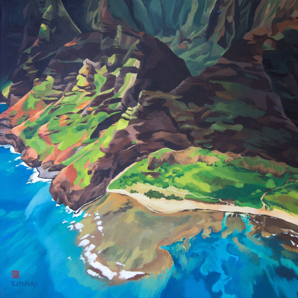 Nualolo Kai - Hawaii painting by artist Emily Miller