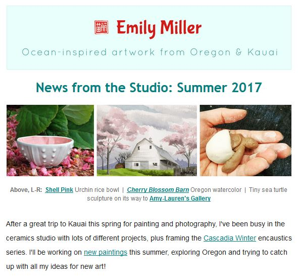 Summer 2017 email news: Bringing home the beach