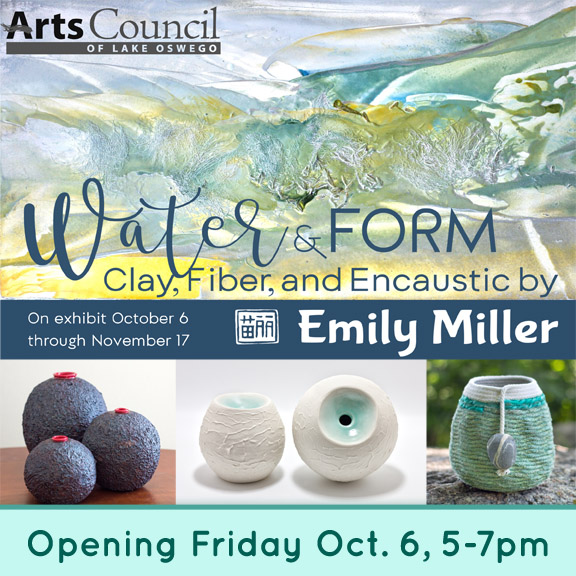 Water & Form – solo exhibit in Lake Oswego, Oregon