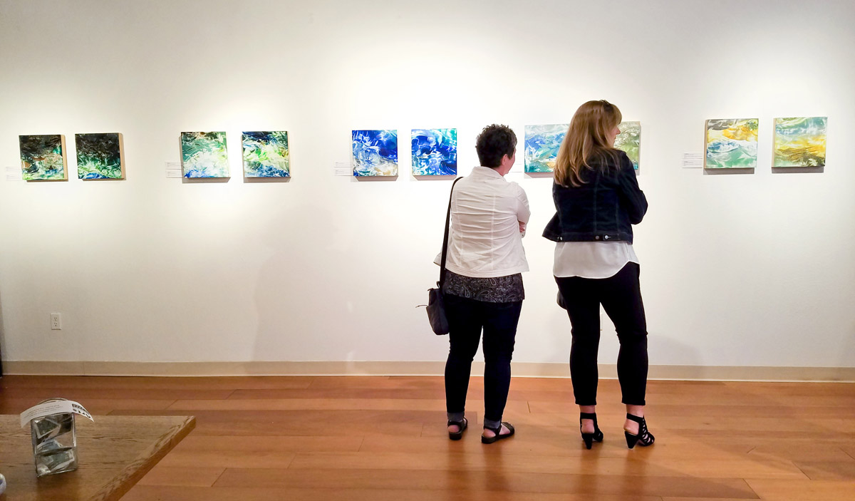 River to Sea encaustic paintings on display at Water & Form solo exhibit