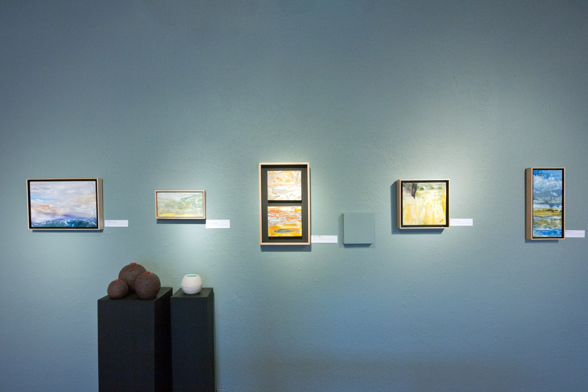 Cascadia Winter encaustic paintings on display at Water & Form solo exhibit