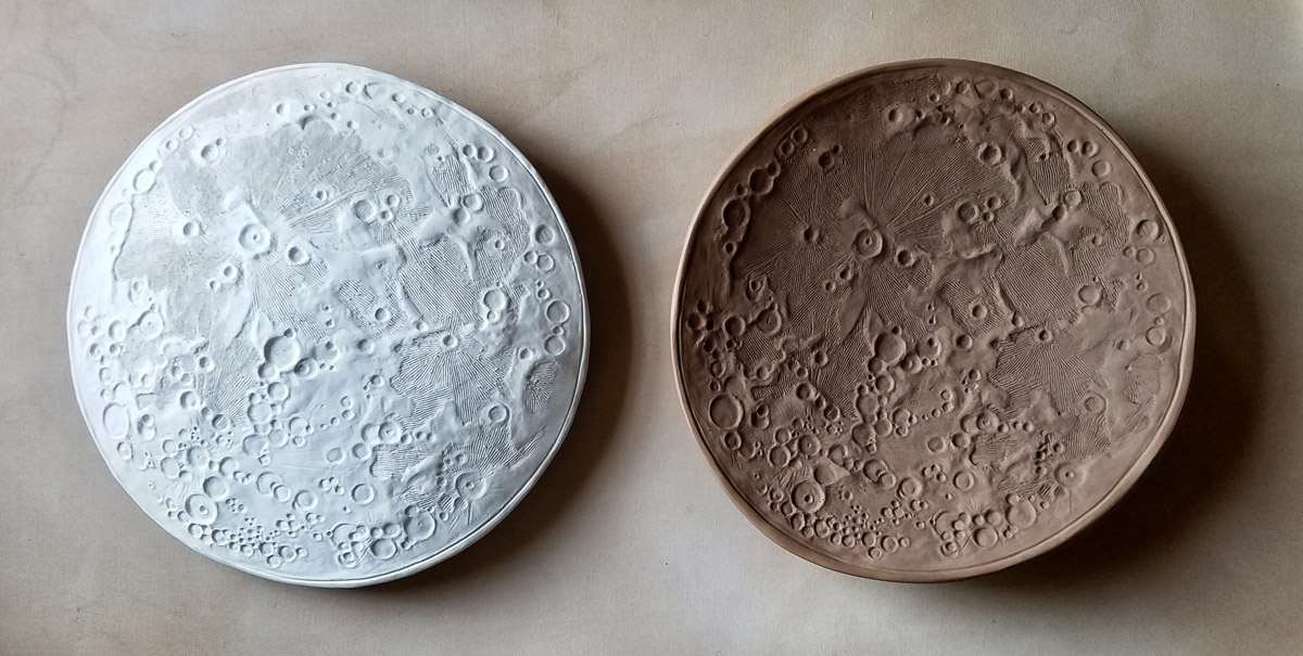 Moon Bowls in progress - ceramics by Emily Miller