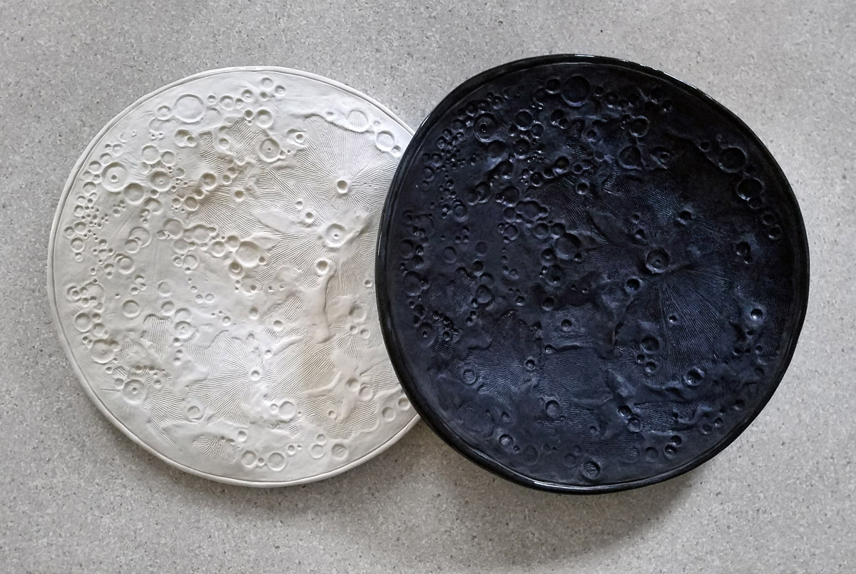 Moon Bowls - ceramic sculpture by Emily Miller