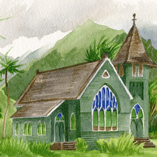 Stories of Faith: painting at Kauai sacred sites
