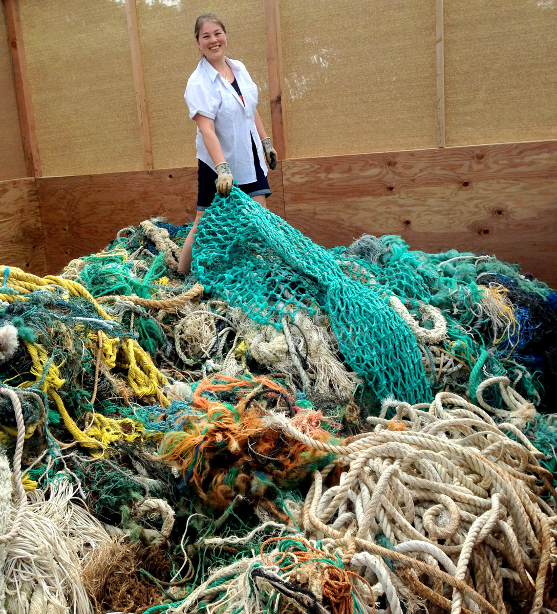 Two tons of fishing rope, Kauai