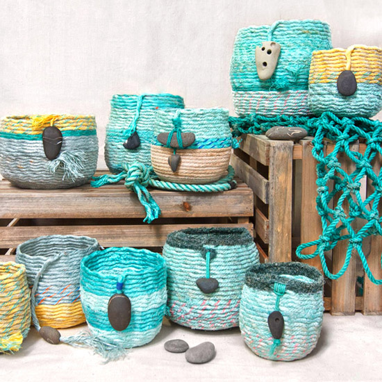 Pacific Ocean ghost net baskets