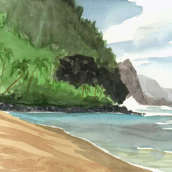 Beyond Hanalei on Kauai's North Shore