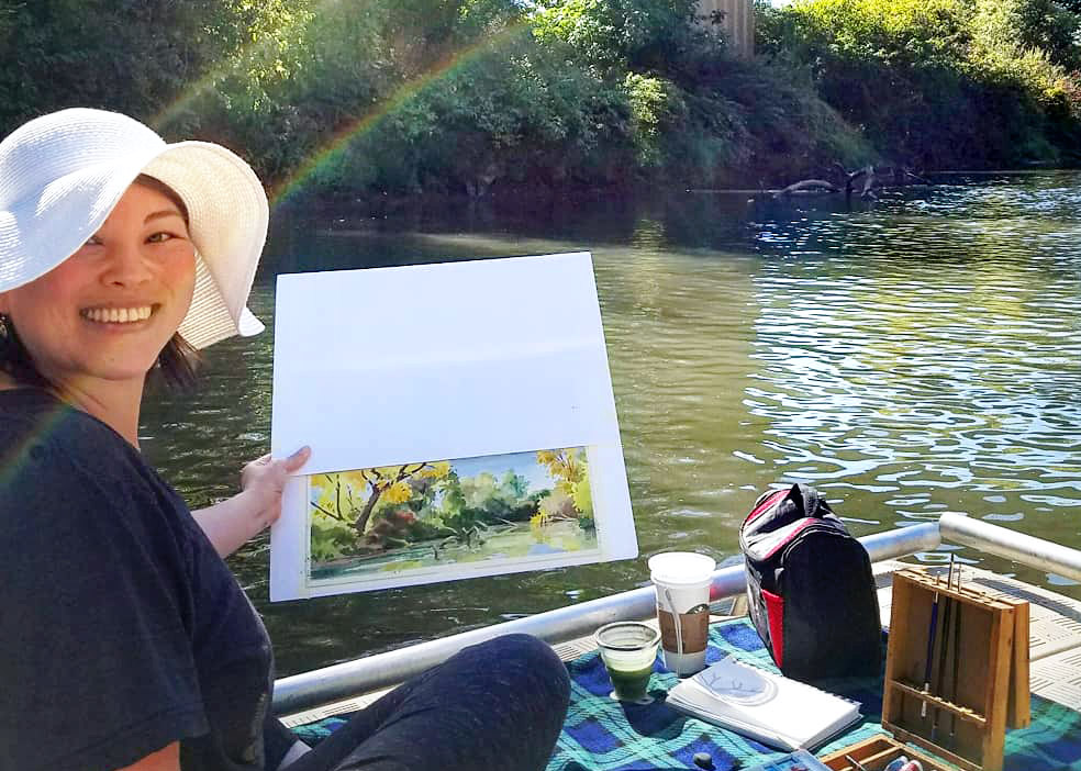 Oregon plein air painting by Emily Miller